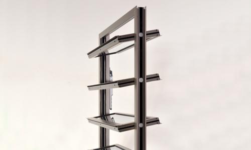 Die als Fenster installierbare Roda RWA Lamellenfenster als Abbildung