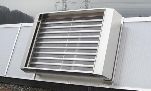 Eine Abbildung einer auf dem Dach installierten RWA Anlage Multijet